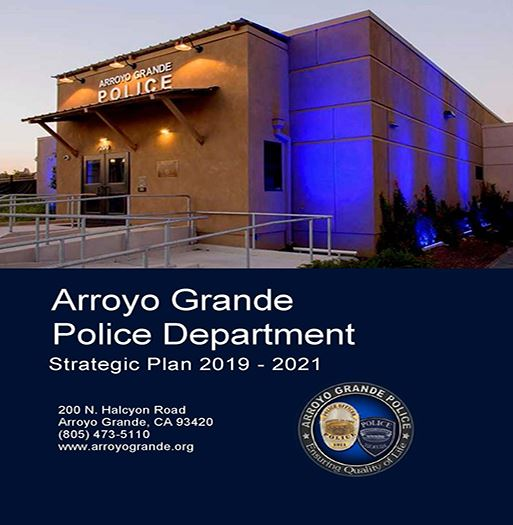 Police Department Strategic Plan Cover