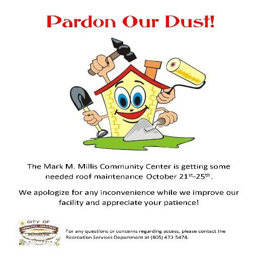 Pardon Our Dust - Roof Repair Flyer
